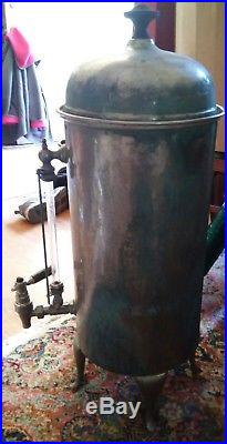 000 Rare Vintage John Van Range Challenger Brand Tea Coffee Urn Copper Glass Nik
