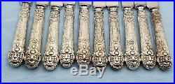 10 Vintage Ionic Silverplate Knives by Rogers #7189