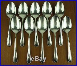 10 x TEASPOONS Birks Regency Plate YORK vintage silver silverplate