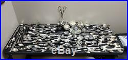 137pc Lot Vintage Unique Silverplate Flatware & Holloware for Crafts & Jewelry