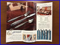 1847 rogers bros flair set vintage silverware flatware 65 pieces and wood case