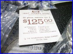 1968 Vtg-1847 Rogers Bros. Is 52 Piece Flatware Set In Grand Heritage Pattern
