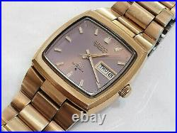1974 Seiko LM Lord Matic 5606 5060 23 Jewel Automatic Day Date Gold Plated