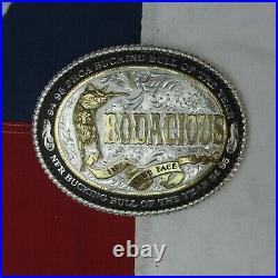 1994 95 PRCA Bucking Bull of the Year Bodacious Silver Plated Belt Buckle VTG
