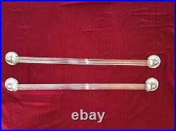 2 Vintage Silver Plated & Crystal Sherle Wagner towel Bars