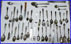 36 LBS Lot of Vintage Silverplated Flatware Silverware Arts Craft Jewelry Resale