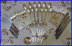 38pce Vintage Danish silver plate Flatware Cutlery set Victoria Regent 6 person