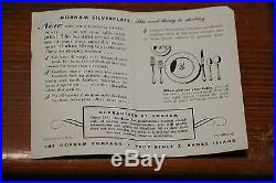 45-piece Silver Plate Flatware Lady Caroline Circa 1933 Gorham Co Box Vintage