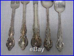 68 Pcs Vintage International Deep Silver Countess Silverplate Flatware Set