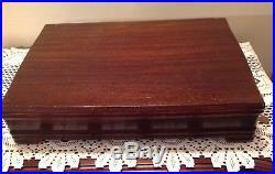 70 PC Vintage 1950's 1847 ROGERS BROS IS Silverplate DAFFODIL Flatware set w Box