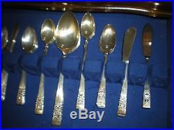 72 piece set Community Coronation vintage silver plated flatware MINT with case