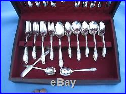 77 Piece Vintage 1847 Rogers Bros FIRST LOVE Round Gumbo Soup Spoons