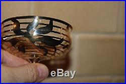 8 VINTAGE Sterling Silver Overlay Sherbet Dessert PUdding Cups