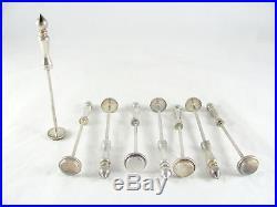 8 Vintage Silver Plate Drink Muddler, cocktail, masher