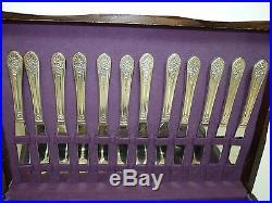 91Pc Set 1953 JUBILEE Pattern WM Rogers Mfg Co. Vintage Silverplate Flatware