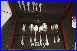 A 45-piece Silver Plate Flatware Lady Caroline Circa 1933 Gorham Co Box Vintage