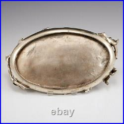 A Continental Art Nouveau Silver Plated White Metal Card Tray c1900