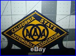 AAA California State automobile Association porcelain license plate topper