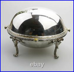 An antique silver plate Rolltop Serving / Breakfast Dish Henry Wilkinson C. 19thC