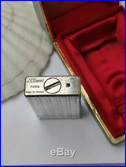 Ancien Briquet St Dupont D57 Vintage Gas Gaz Silver plated Lighter