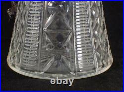 Antique Edwardian Silver Plate & Cut Glass Claret Jug