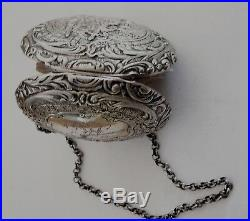 Antique Purse. Silver plate, Germany. C. 1850-75