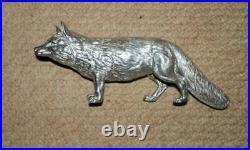 Antique Silver Plate Fox Spice/Pepper Shaker