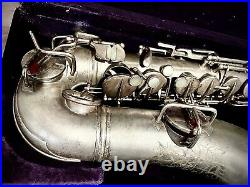 Antique Silver Plated Alto Saxophone Withgold Bell & Near Perfect Body Valencia