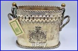 Antique Silverplate Double Wine Chiller / Holder John Richard Home Decor
