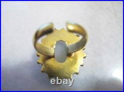 Antique Victorian Silver Gold Plated Signet Ring Quadriga With God Apollo