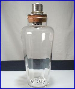 Antique Vintage Art Deco Glass & Silver Plate Cocktail Shaker 54233