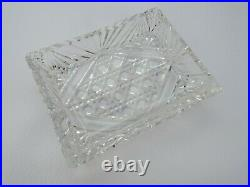 Antique or vintage silver plated 4 slice toast rack with hobnail cut glass dish