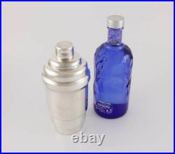 Art Deco Silver Plated Stepped Cocktail Shaker. Antique Vintage Barware c1930