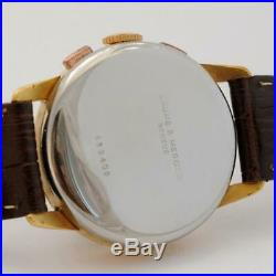 Authentic Vintage Baume Mercier Chronograph Gold Plated Manual Wind Gents Watch