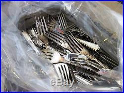 (#B) Huge 26lb Lot of Vintage Silverplate Flatware Forks for Craft/Resale