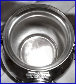 BEAUTIFUL! Vtg BIRMINGHAM Slv Plate O/C Tilt Coffee/Tea Pot Kettle withBurner Pot