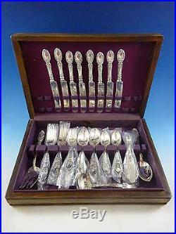 Brides Bouquet By Alvin Silverplate Vintage Flatware Set For 8 Service 52 Pcs