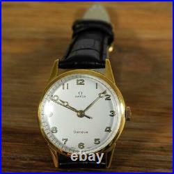 Beautiful Omega Gold Plated Manual Wind Vintage Watch Swiss Original 1962