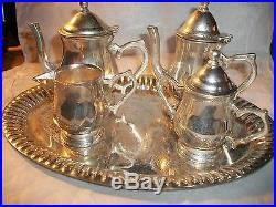 Best offer VINTAGE GODINGER SILVER ART CO Silver Plated Child's Tea Set RARE