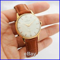Breitling Cadette Gold Plated Manual Wind Authentic Gents Watch Factory Dial