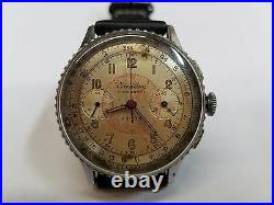 Breitling Chronomat 769 Chronograph Rare Chrome Plated Case Vintage 217012