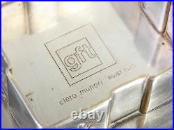 Ciotola Design Cleto Munari Per Gft Silver Plate Svuotatasche Vintage 1970s