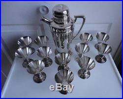 Cocktail Set Silver Plate Victorian EPBM Vintage 13 pcs