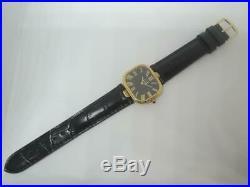 DUNHILL 5 25229 FQ MEN 925 Silver Gold Plated Case Rome ETA Quartz Vintage Watch