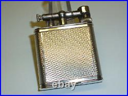 Dunhill Vintage Liftarm Lighter Silver Plated Pat. 390107 England Rare