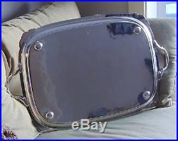 ELEGANT Vintage ELLIS BARKER Silver Plate Tea Tray MENORAH MARK Large