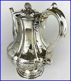 ELKINGTON & Co VICTORIAN SILVER PLATE COFFEE POT 1845