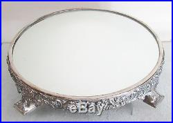 Exquisite Vintage Repousse' Reed & Barton Display Mirror Plateau