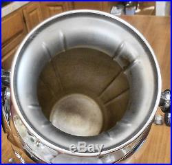 EXQUISITE! Vtg Slv Plate Footed Hot Water Coffee Tea Samovar Urn withTap Dispenser