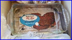 FB rogers silver Loaf serving set Chevrolet fire king Vintage Anchor Hocking
